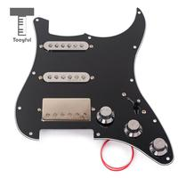 Tooyful 3 Ply SSH Alnico 5 Pre Loaded Pickup Humbucher Pick Guard Scratch Plate For Strat