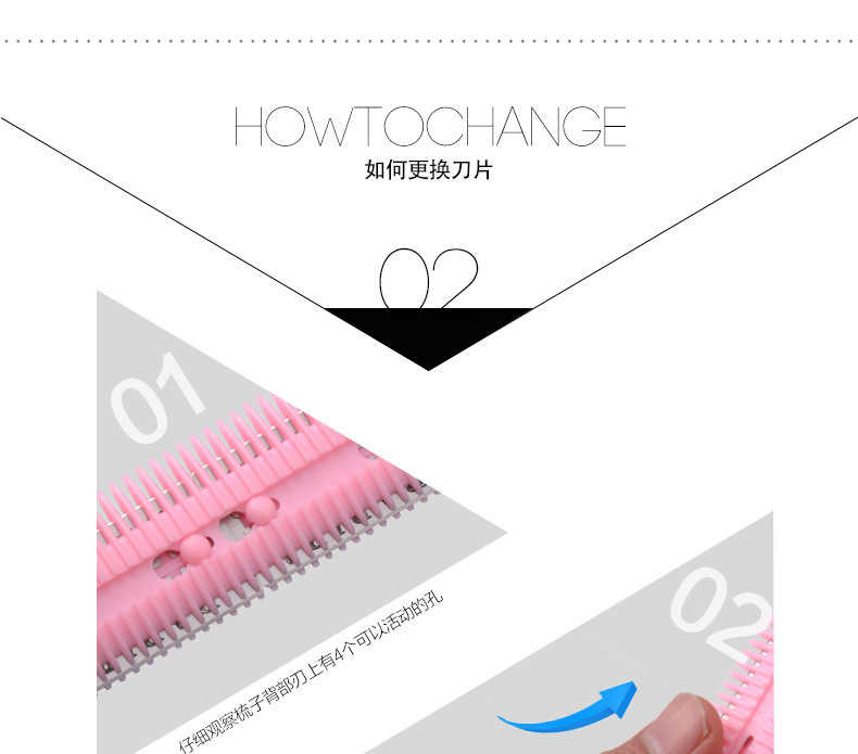 Wholesale 1pc Double Sides Hair Razor Comb with 2 Removable Blades Hair Cutting Thinning Shaper Haircut Trimmer Styling Tool
