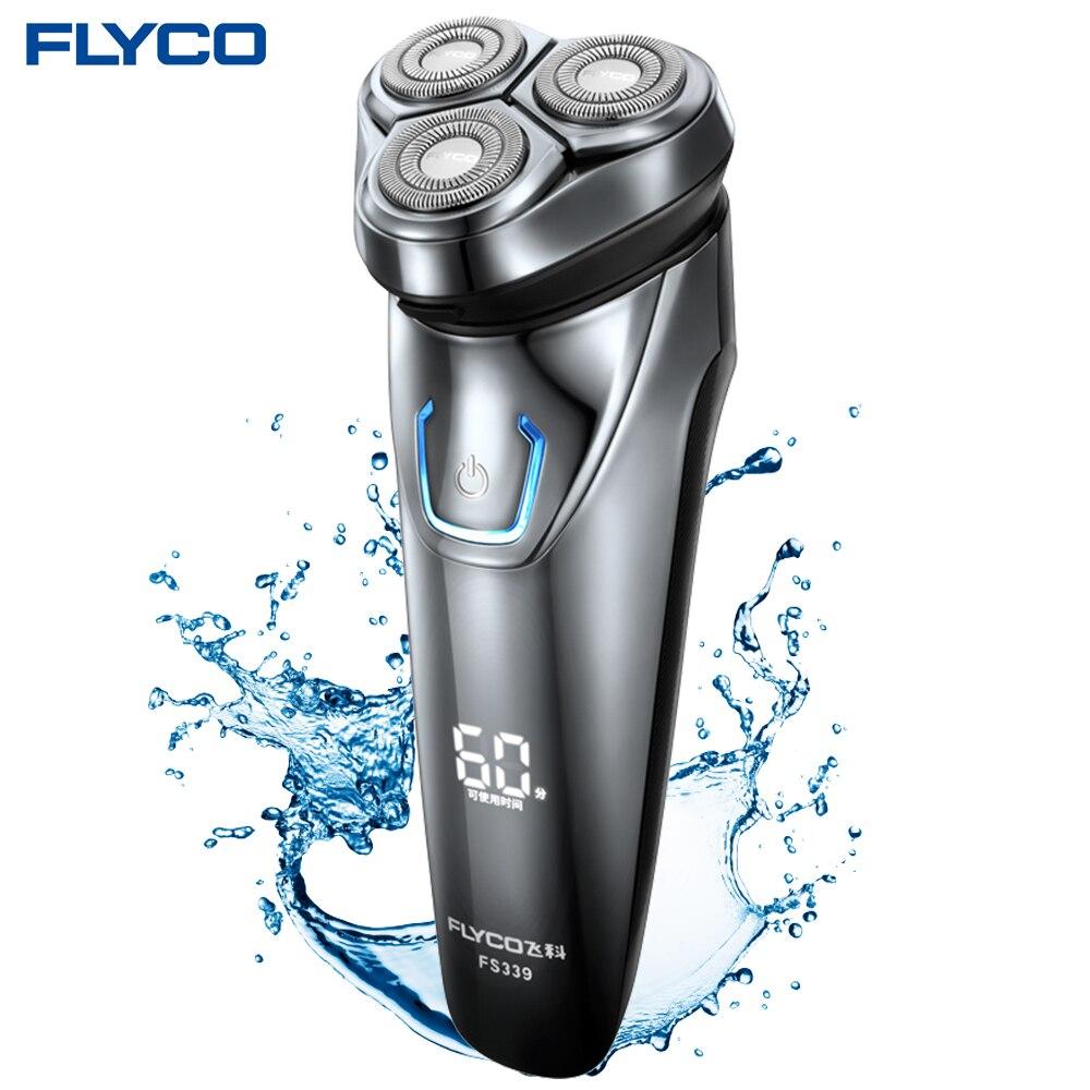 Flyco FS339 Shaving Machine <font><b>Electric</b></font> <font><b>Shaver</b></font> For <font><b>Men</b></font> <font><b>Electric</b></font> Razor Barbeador IPX7 Waterproof 1 Hour Rechargeable <font><b>Washable</b></font> <font><b>Rotary</b></font>