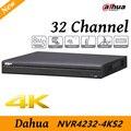 O envio gratuito de new h.265 nvr4232-4ks2 32 canais dahua 1080 p suporte 2 sata III Porta até 6 TB de capacidade para cada HDD 2 USB