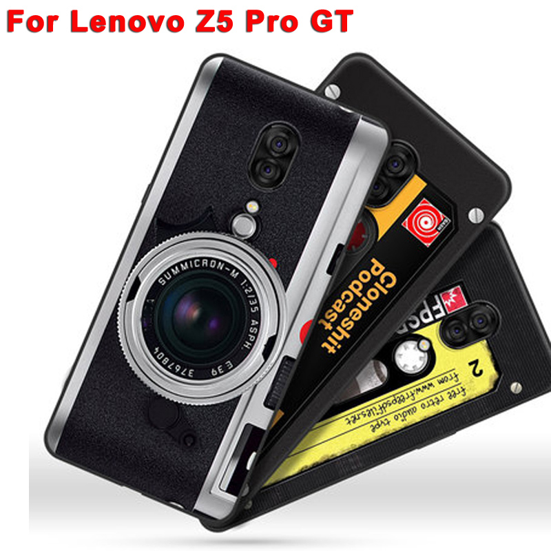 """6.39"""" Silicone coque For Lenovo Z5 pro GT GT855 case For Lenovo Z5pro GT back cover Z5ProGT retro camera Painted soft case shell"""