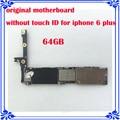 Originais motherboard sem fingprint para iphone 6 plus 5.5 inch 64 gb placa lógica mainboard sem touch id 100% testado