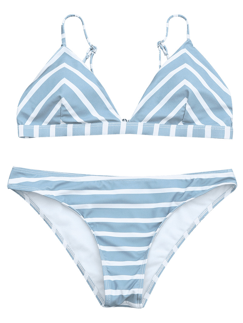 89173e709e283 ZAFUL Bikini 2018 Swimwear Women Chevron Stripe Cami Swimsuit Sexy Low Waist  Striped Design Spaghetti Straps Bathing Suit Biuqni