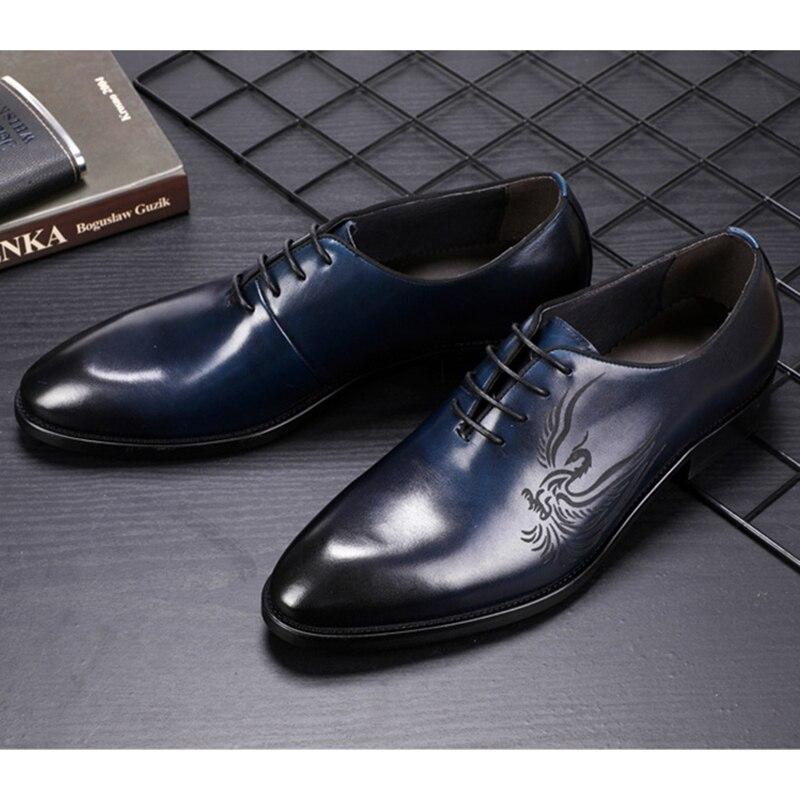 Grimentin Leder Männlichen Black 6 Oxfords Spitze 5 5 Schuhe Geschäfts Männer Echtem Größe 10 Aus Kleid Bis blue raXrvS