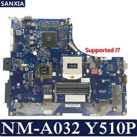 KEFU VIQYI NM A032 Laotop motherboard for Lenovo Y510P Test original mainboard GT750M/GT755M Support I7 CPU