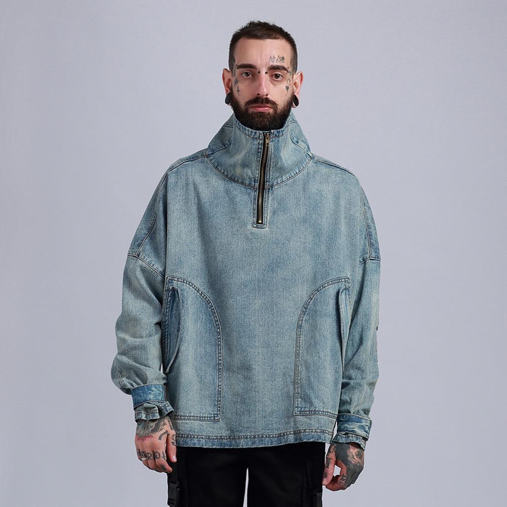 BOLUBAO 2018 Spring Men Hip Pop Washed Oversized Demin Jacket Male High Street Skateboard Hooded Cowboy Jackets Chaqueta Hombre