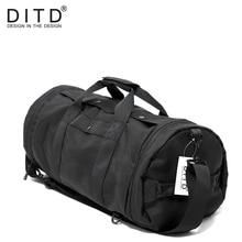 Купить с кэшбэком DITD Men Travel Bags Black Male Tote Shoulder Traveling Bag Backpacks Portable Women Handbags Big Weekend Bag Duffle Bag Quality