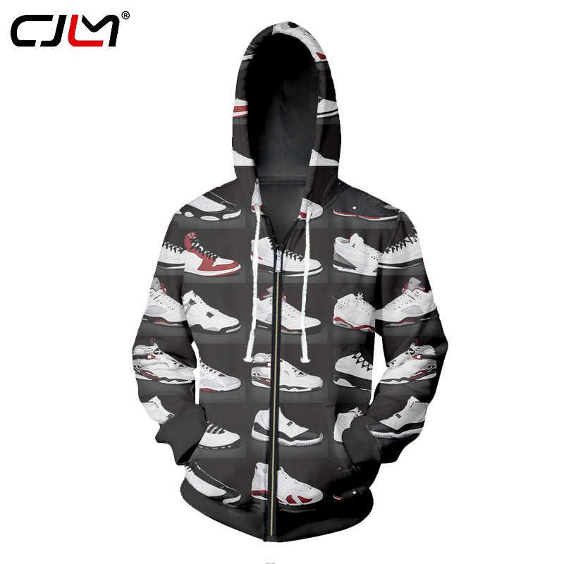 17a33ab273a0d1 2017 Hoodie Zipper Men Sweatshirts JORDAN 23 Classic Shoes 3D Print Unisex  Hip Hop Streetwear Hooded