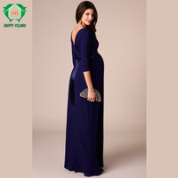 Easter Gift Spring Tencel Maternity Clothing Maternity Dresses For Pregnant Women Long Prom Evening Party Vestidos