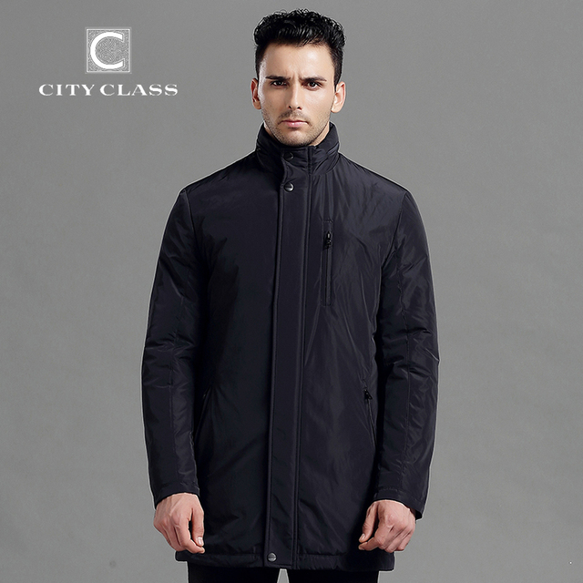 CITY CLASS New Mens Autumn Jackets And Coat Fashion Long Casualslim Fit Sewing Detachable Hat  Jackets Free Shipping 14046