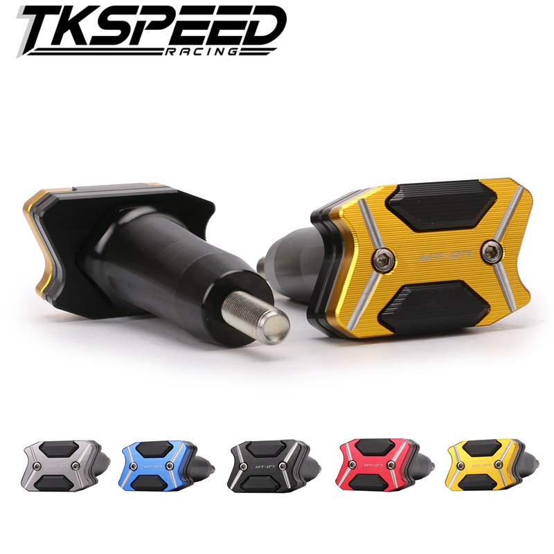 Motorcycle Aluminum Motorbike Left and Right Frame Slider Anti Crash Protector For Yamaha MT-07 MT07 FZ-07 FZ07 2014-2016 mt 07 2017 new knight protection gxt flip up motorcycle helmet g902 undrape face motorbike helmets made of abs and anti fogging lens