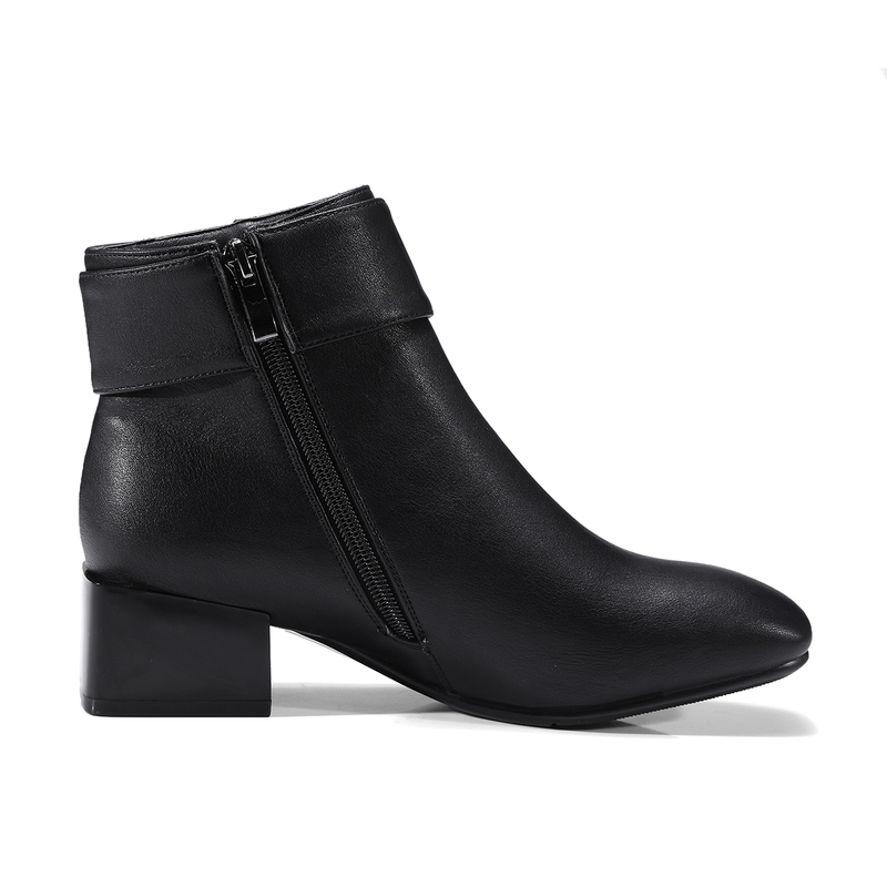 SFZB Women Shoes square Heel Ankle Boots Martin Boots Zip Fall Spring square Toe High Heels Lady Shoes Gray Big Size 10 40 43