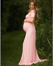 Материнство Подставки для фотографий Беременность одежда макси Материнство фотографии платье хлопок Материнство Платье для фотосессии