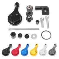 CNC Motorbike Steering Damper Stabilizer Bracket Mounting Holder Set For Yamaha YZF R6 YZF R1 2006 2007 2008 2009 2010 2011 2015