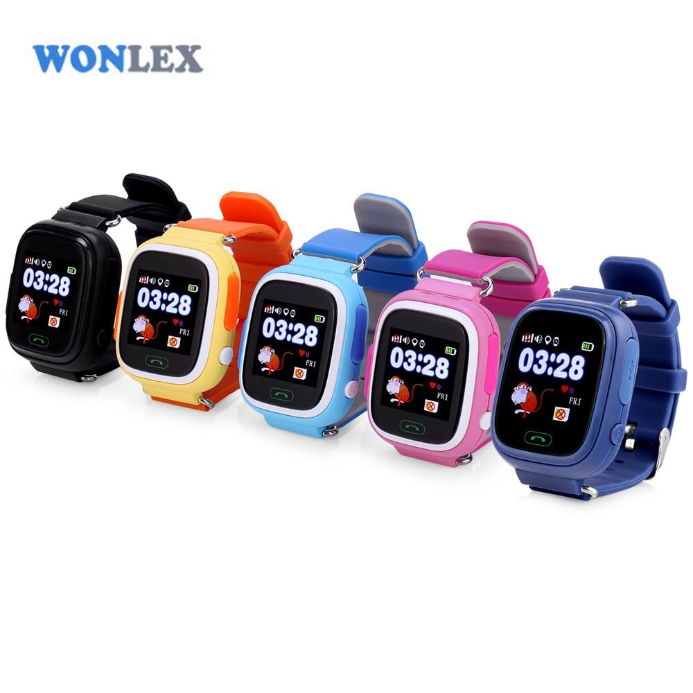Wonlex 2016 дети GPS часы mtk2503 Сенсорный экран ребенок Google Географические карты кнопка sos часы для ребенка фунтов/GPS/WI-FI локатор
