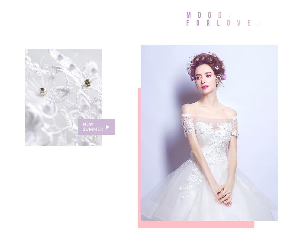 Angel Wedding Dress Marriage Bride Bridal Gown Vestido De Noiva 2017 Boat Neck Nail, lace, 2129 4