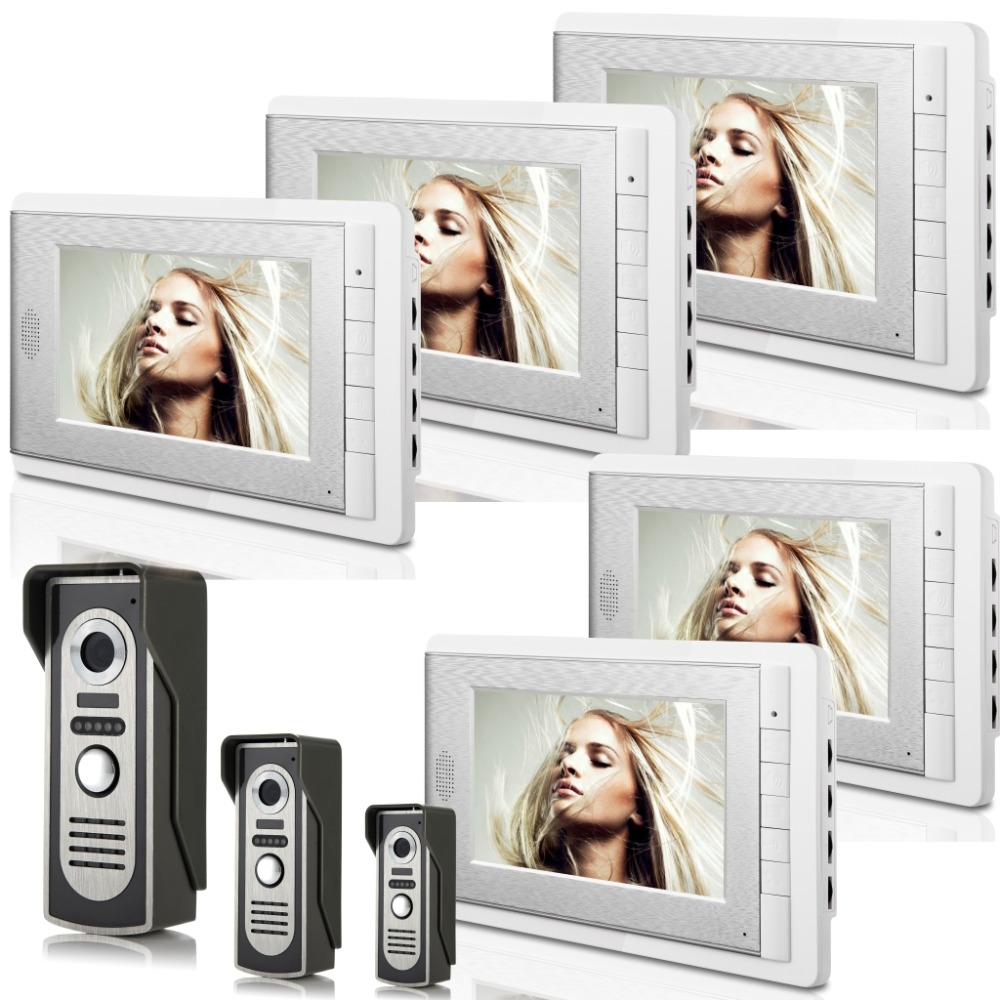 3V5 7 Inch Monitor Water-Proof IP66 Wired Intercom Video Door phone