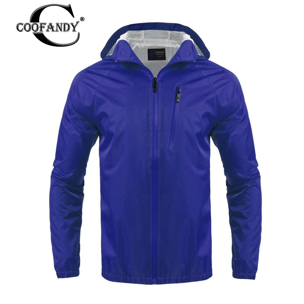 Impermeable Sólido blue orange Al Libre Casual Chaqueta Para Black Hombre Capucha Aire 5EfqSx