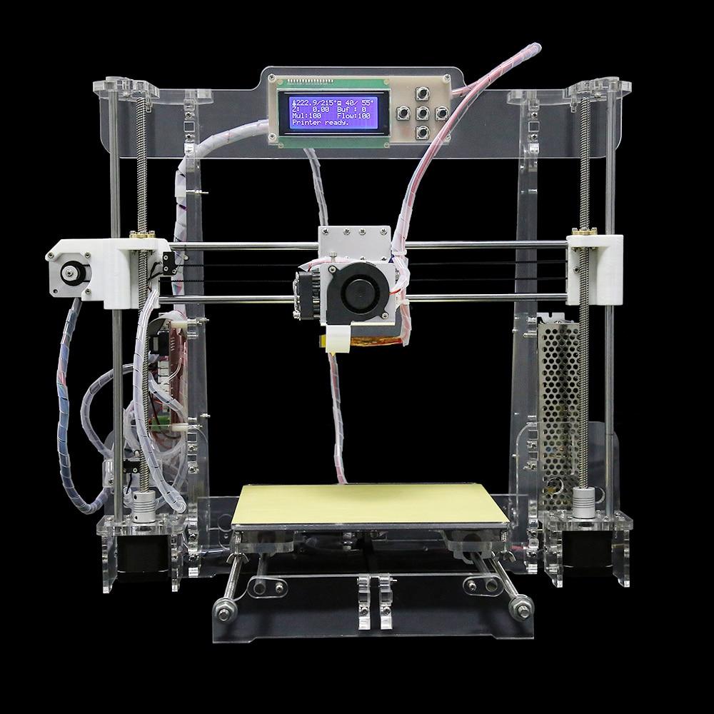 3D Printer Printing size 220*220*240mm High Precision Reprap Prusa i3 3d Printer kit impresora 3d with Free Filament 8G SD card