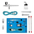 Mini Dual Action Airbrush Comperssor Kit 0.2/0.3/0.5mm Needle Air Brush Spray Gun For Makeup Model Nail Body Paint Art