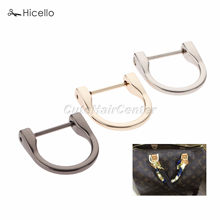 2PCS D Rings Buckles with Removable Screw Zinc Alloy 25MM(ID) Dee-Ring Luggage Accessories Leather Bags 3 color Hicello(China)