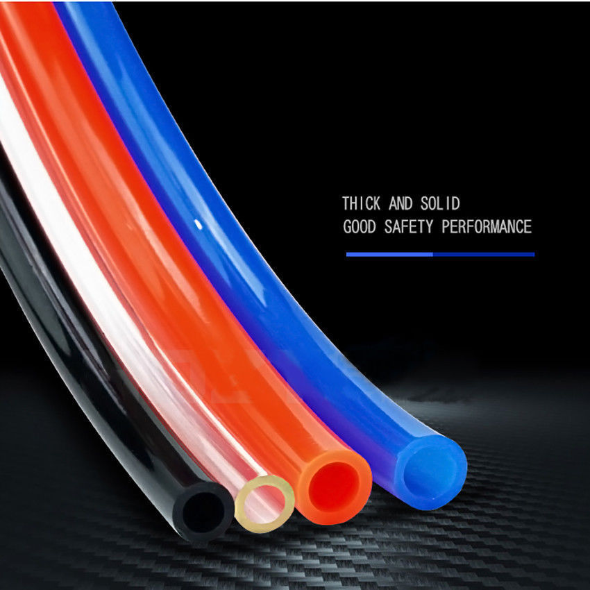 Air Tubing Pneumatic Pipe Tube Hose 10x6.5mm ID 8x5mm 6x 4 2.5mm 12x8  Transparent Blue Red Black PU Air Gas Pipe Hose 1M SALE