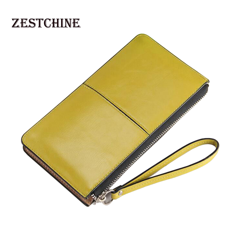 2016 New Designer Fashion Hot Oil Wax Leather Women Wallet PU Leather Women's Korean Zipper Purse Large Capacity Day Clutch dollar price new european and american ultra thin leather purse large zip clutch oil wax leather wallet portefeuille femme cuir