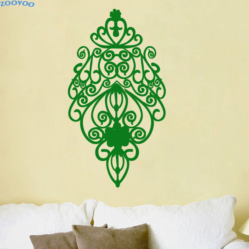 ZOOYOO Beautiful Pattern Home Decor Removable Living Room Wall Sticker Bedroom Decoration Wall Art Murals Decal