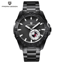 PAGANI design luxury watch men mechanical watches waterproof all steel 2018 new black dial chronograph watch relogio masculino pagani design automatic watch men waterproof mechanical watches mens self winding horloges mannen dropship