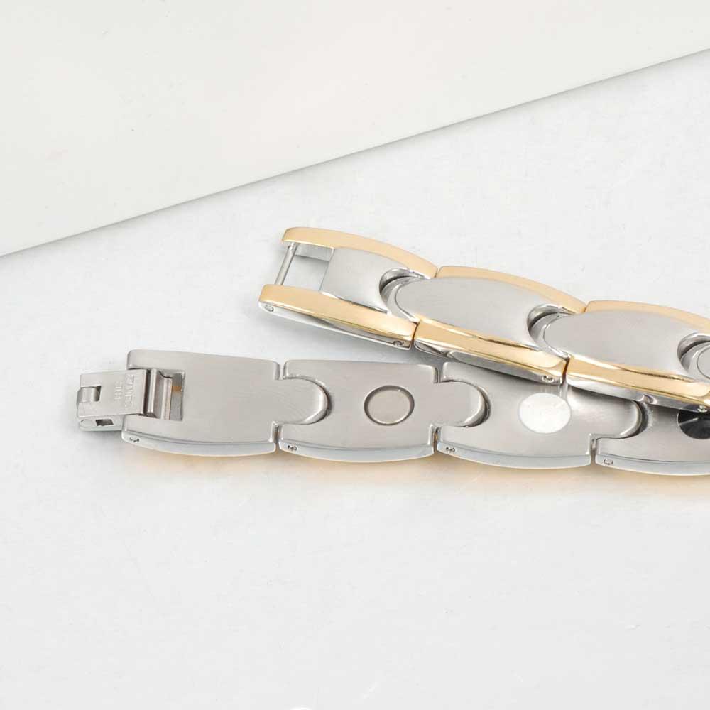 Vinter magnetiske armbånd mænd rustfrit stål magnet ion tysk - Mode smykker - Foto 4