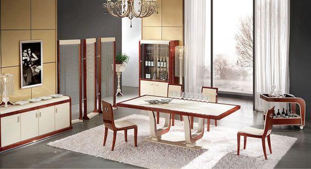 Muebles de diseño italiano en casa mesa de comedor con mesa de ...