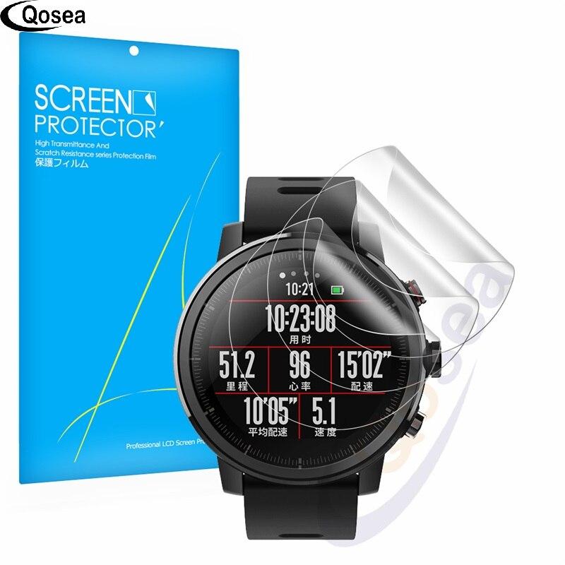 (3 PAKET) Qosea Für Xiaomi Huami Amazfit 2 Smart Displayschutzfolie explosionsgeschützte Film Ultra Clear 3X LCD Guard Shield Abdeckung haut