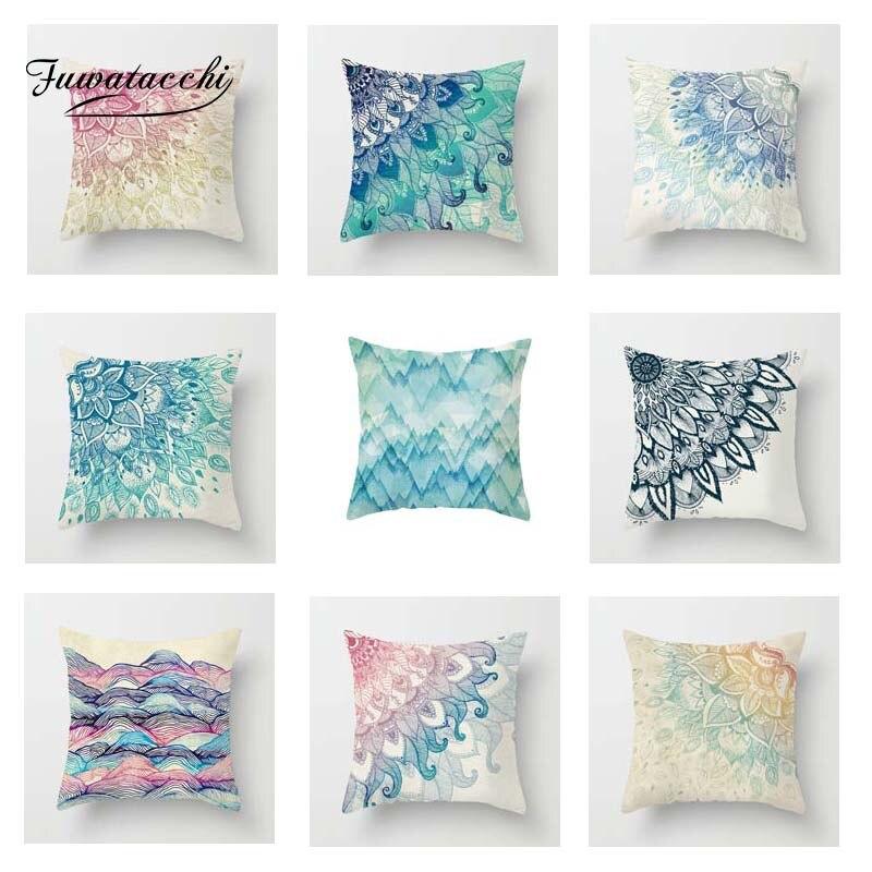 Fuwatacchi Nordic Style Cushion Cover Mandala  Soft Throw Pillow Decorative Sofa Case Pillowcase