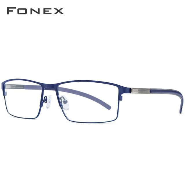 Gafas ópticas de aleación de titanio, Marco ultraligero para hombres, gafas graduadas para miopía cuadrada, Gafas de Metal 2019 para hombres, gafas completamente sin tornillos