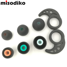 misodiko Replacement 3.5mm Silicone Earbud Tips for SONY XBA MDR and DR Series, Logitech UE 900, ATH-CK100 with Ear Fins- S350