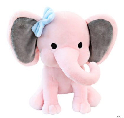 Free Shipping 25cm Cute Plush Toys Elephant Bedtime  Baby Sleeping Soft Stuffed Plush Toy For Childern Gift