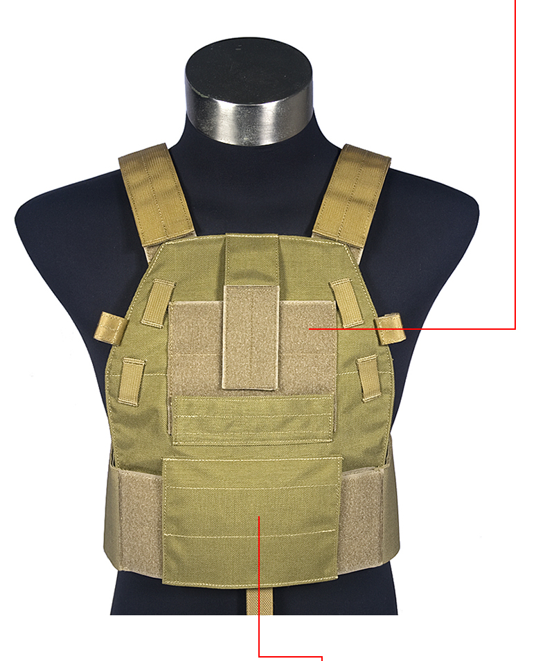 Mil Spec Military LT6094A Coyote Brown Plate Carrier Combat Molle Tactical Vest  Army Military Combat Vests & Gear Carrier