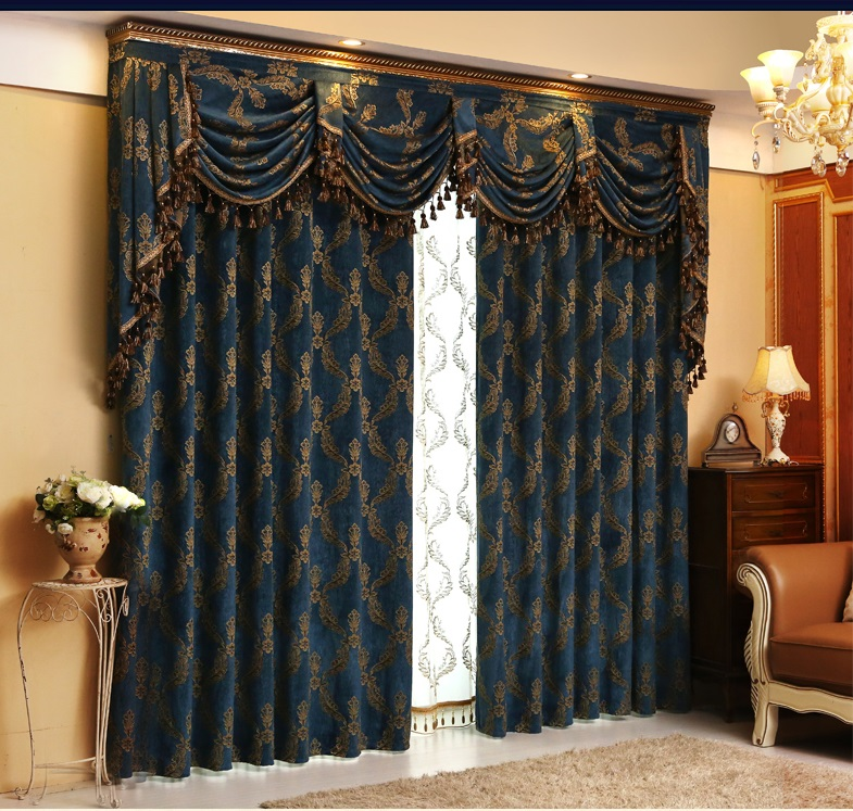 Aliexpress On S Europe Luxury Chenille Jacquard Curtains Valances Cortinas For Living Room From Reliable Suppliers