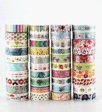 Bán buôn 80 cái/lốc Kawaii Đầy Màu Sắc 531 Mẫu Băng dots, chevron, hoa, cờ, vàng và giáng sinh nhật bản giấy washi băng
