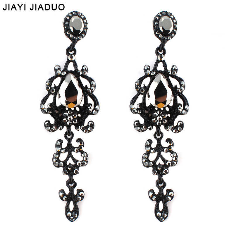 jiayijiaduo Trendy Long Earrings Chandelier Vintage Hanging Earring 2017 New Party Prom Fashion Jewelry for Women dropshipping
