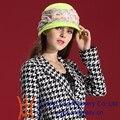Envío de La Manera Nuevas Mujeres de la Llegada Vestido Formal de Lana Sombreros Puro y Fresco Colorido Moda Nifty Varias Ocasiones