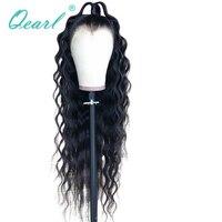 Длинный парик 20 30 вьющиеся Синтетические волосы на кружеве натуральные волосы парики для женский, черный Цвет парик бразильский на сшивке