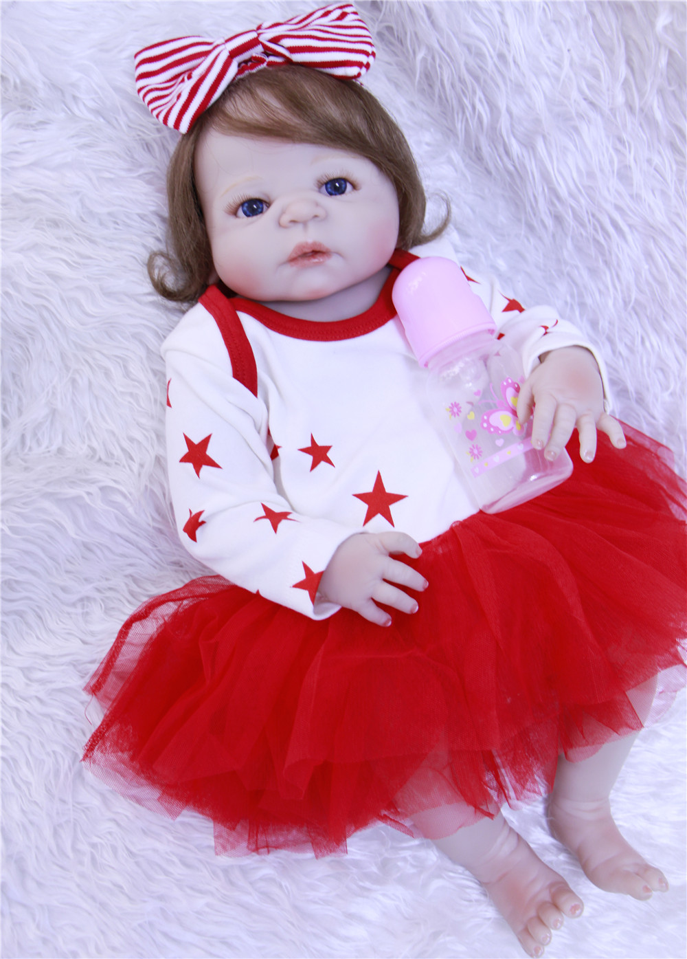 Reborn girl dolls 23 full silicone reborn baby dolls toys lifelike children gift bathe toy fashion doll bebe-reborn bonecas Reborn girl dolls 23 full silicone reborn baby dolls toys lifelike children gift bathe toy fashion doll bebe-reborn bonecas