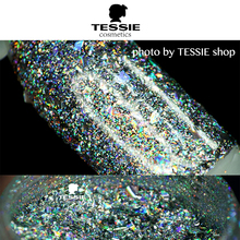 Tessie shop Hot sell Galaxy Holo flakes  chrome nail Magic Effect Flakes