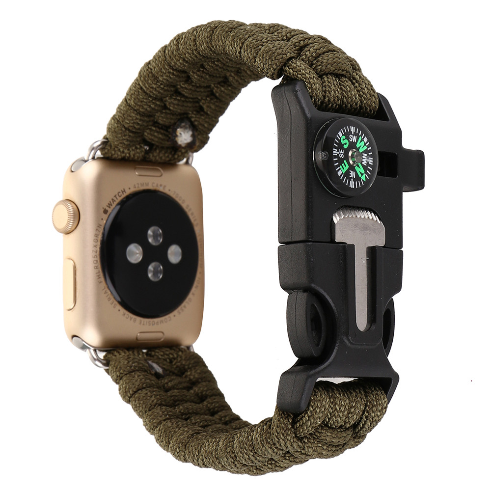 outdoor Sports Nylon watchband Strap For Apple Watch band series 1 2 3 4 wristband wrist watch belt for iwatch 4 Double color in Watchbands from Watches