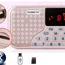 Перезаряжаемый Bluetooth беспроводной динамик FM радио приемник портативное мини-радио Поддержка USB TF карта с разъемом для наушников музыкальный плеер
