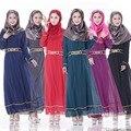 536010Hot venta nuevo musulmán del abaya abaya de las mujeres islámicas vestidos de moda de Alta calidad de la gasa de la ropa de manga larga de las mujeres