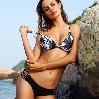 new swimsuit female digital print split swimsuit coconut tree Europe and the United States sexy Agent Provocateur b image