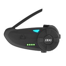 EJEAS Quick20 Bluetooth 4,2 Motorrad Intercom Headset Raid Paar 1,2 km mit FM Radio Plattenspieler Batterie Anzeige für 2 Fahrer