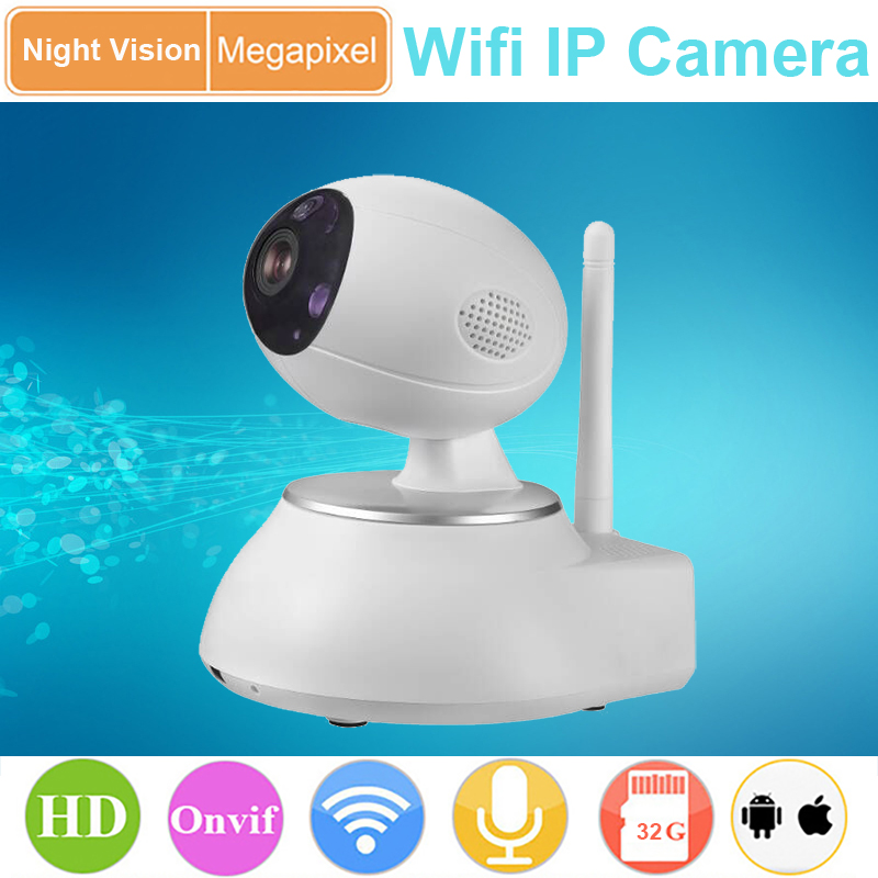 ФОТО High-End Ip Camera Wif P2P 3D Noise Reduction sanded surface 360 rotation support motion detect SD Card H.264 Onvif 2.0